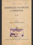Skeptická filosofie a spiritismus - náhled