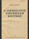 A csehszlovák történelem kistukre - náhled